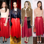 Gucci-red-leather-skirt