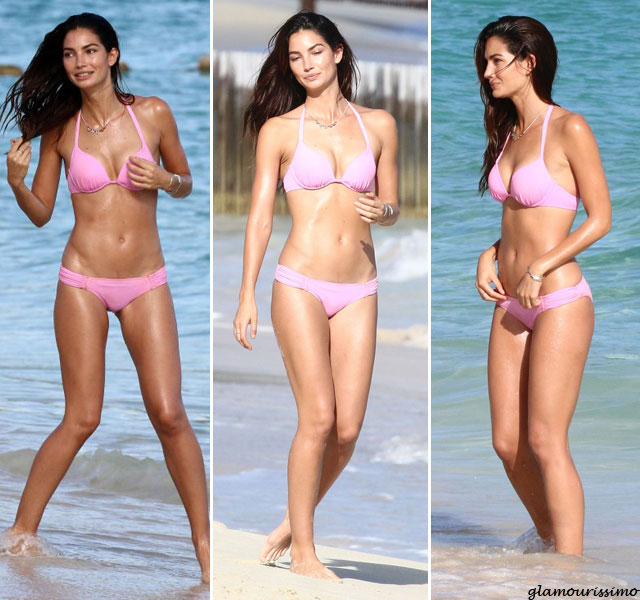 Lily-Aldridge-in-a-Bikini