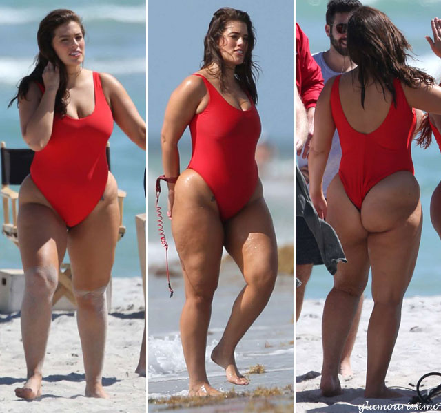 Ashley-Graham-in-Red-Swimsu